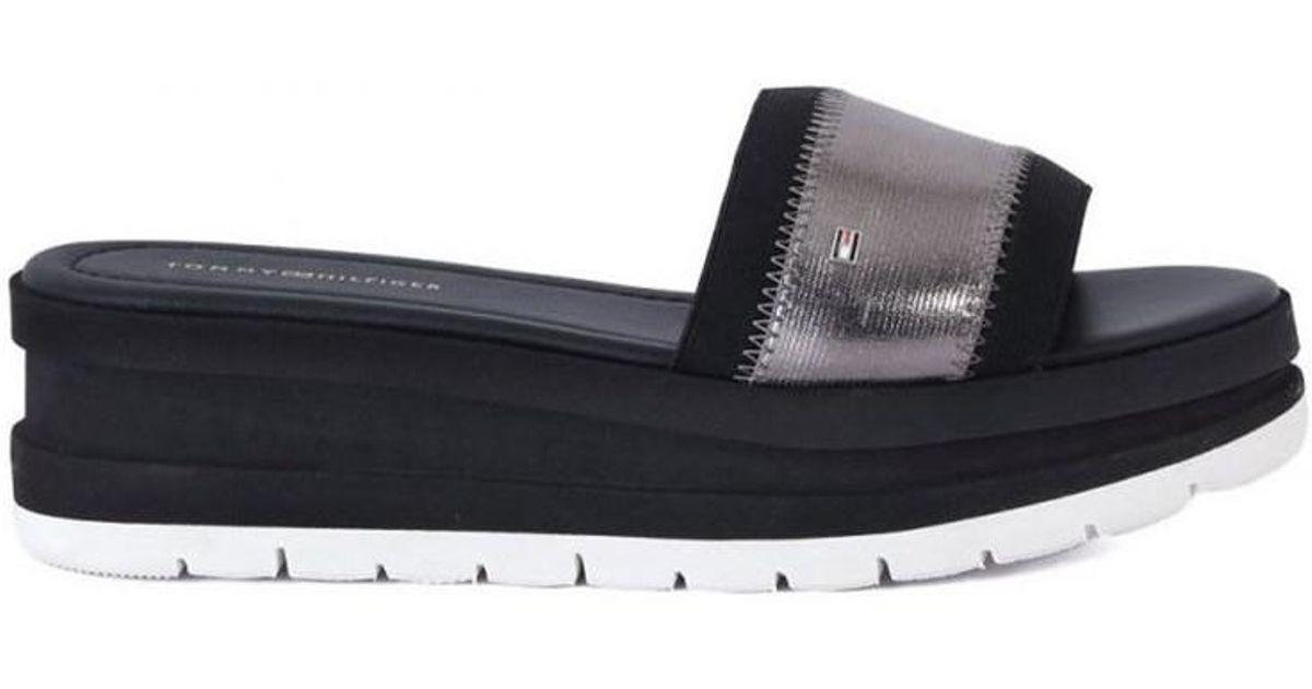 fd16320c3b3ef Tommy hilfiger momo womens sandals in silver in metallic save lyst jpeg  1200x630 Hilfiger momo