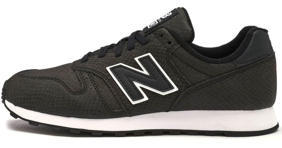 big sale bb08c 7dca5 New Balance 373 Sneakeskin Print Women Trainers In Black Wl373 Blr Women's  Shoes (trainers) In Black