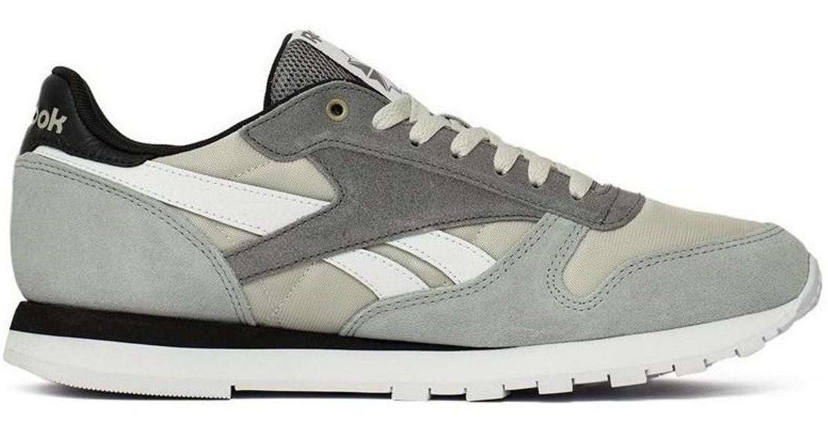 outstanding features great variety models official photos Reebok Gray Cl Leather Mccs Men's Shoes (trainers) In Grey for men