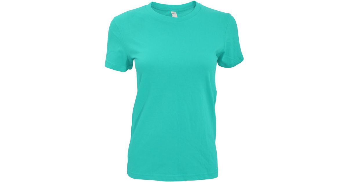 91eef7fa American Apparel Blue Womens/ladies Plain Short Sleeve T-shirt Women's T  Shirt In Other