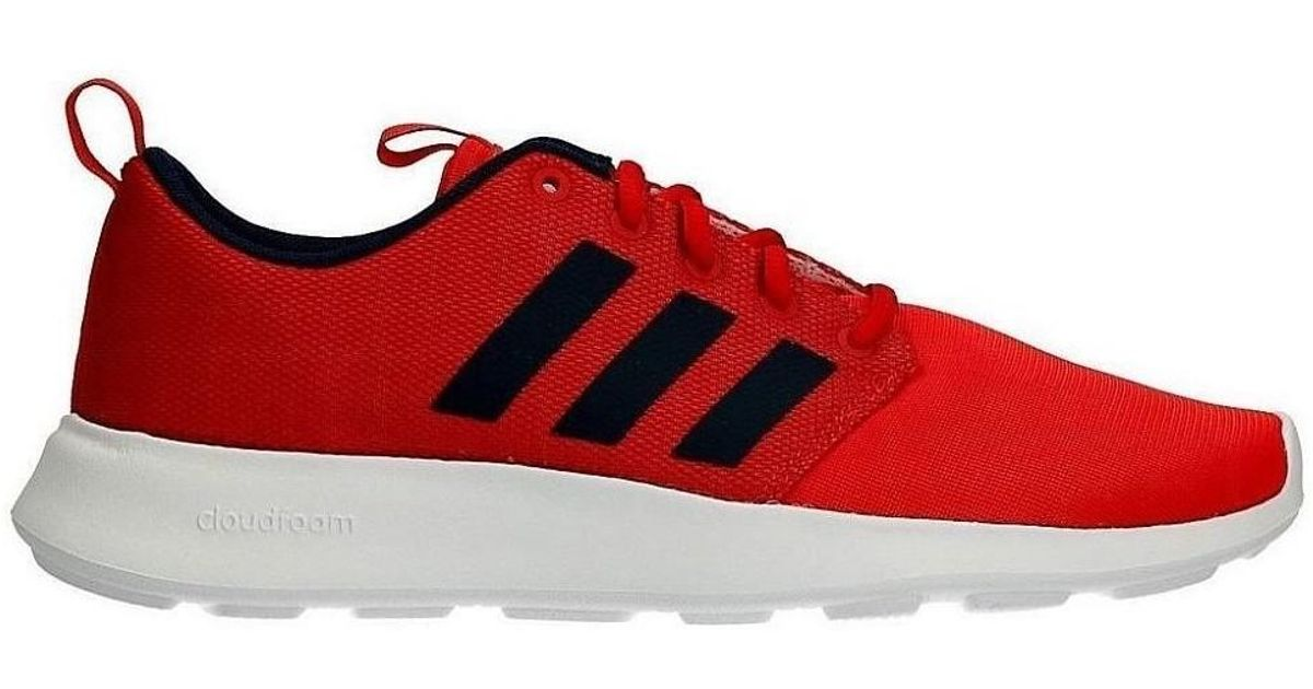 Adidas Neo Cloudfoam Cf Swift Racer Men's Shoes (trainers) In Red for men
