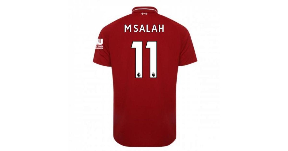 hot sales fe9d8 33e32 New Balance 2018-2019 Liverpool Home Football Shirt (m Salah 11) - Kids  Men's T Shirt In Red for men
