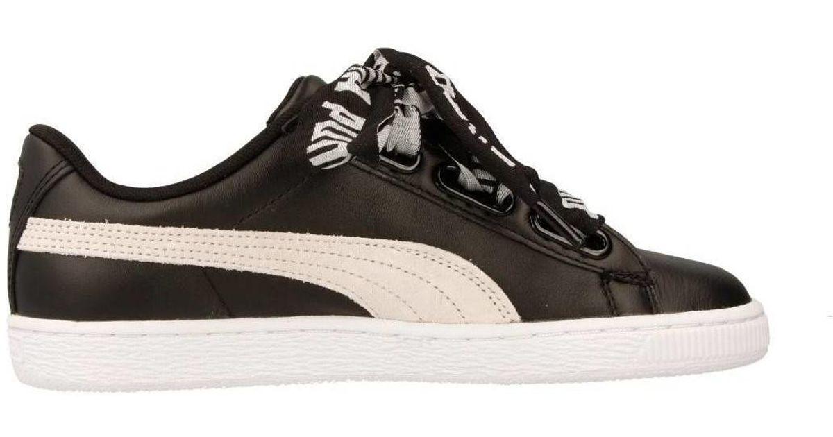 Black Basket Puma ShoestrainersIn Heart Women's Lyst f6bg7Yy