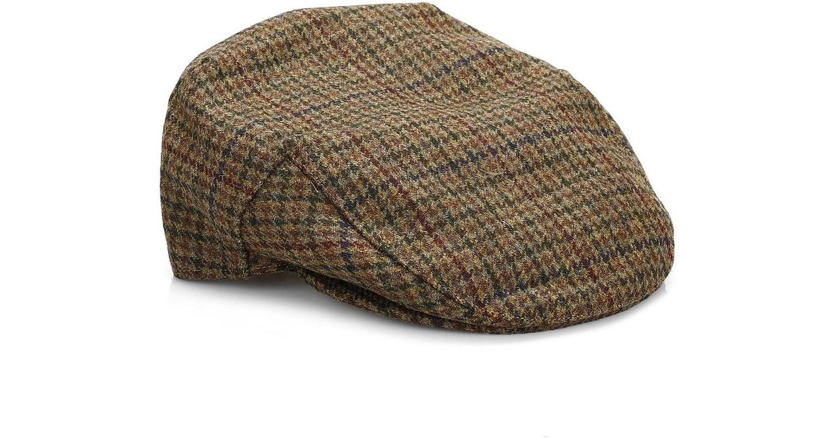 9906d20aa0d Barbour Mens Dark Olive Check Crieff Cap Men s Hat In Green in Green for Men  - Lyst