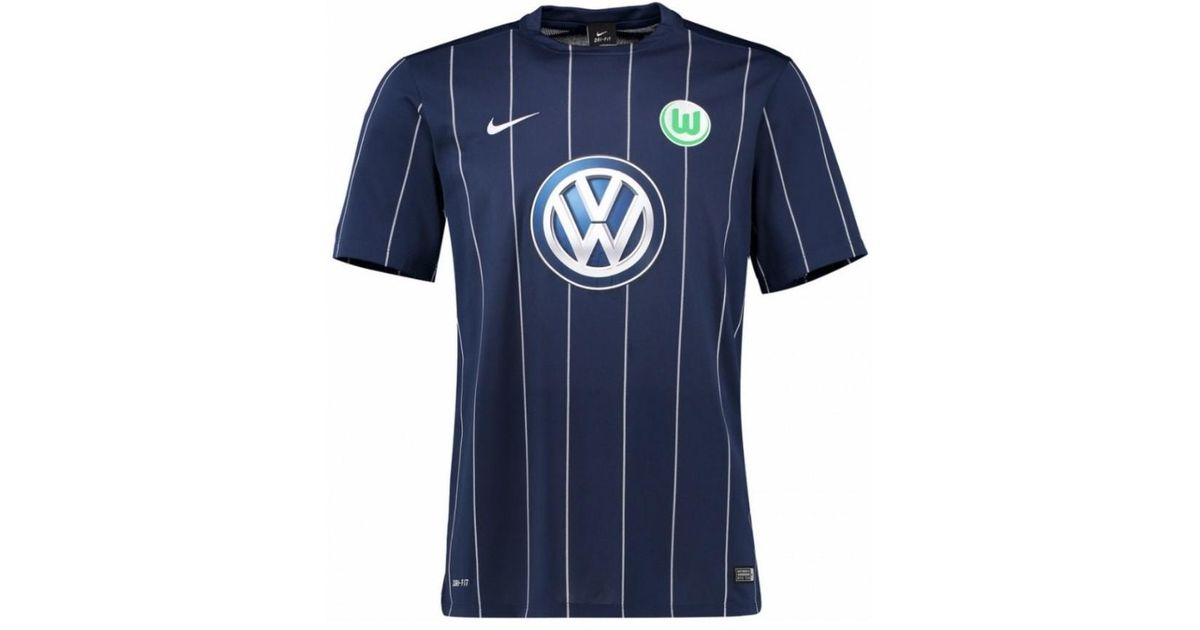 wholesale dealer 0c38c 676a9 Nike 2016-17 Vfl Wolfsburg Third Kit (mario Gomez 32) Women's T Shirt In  Blue for men