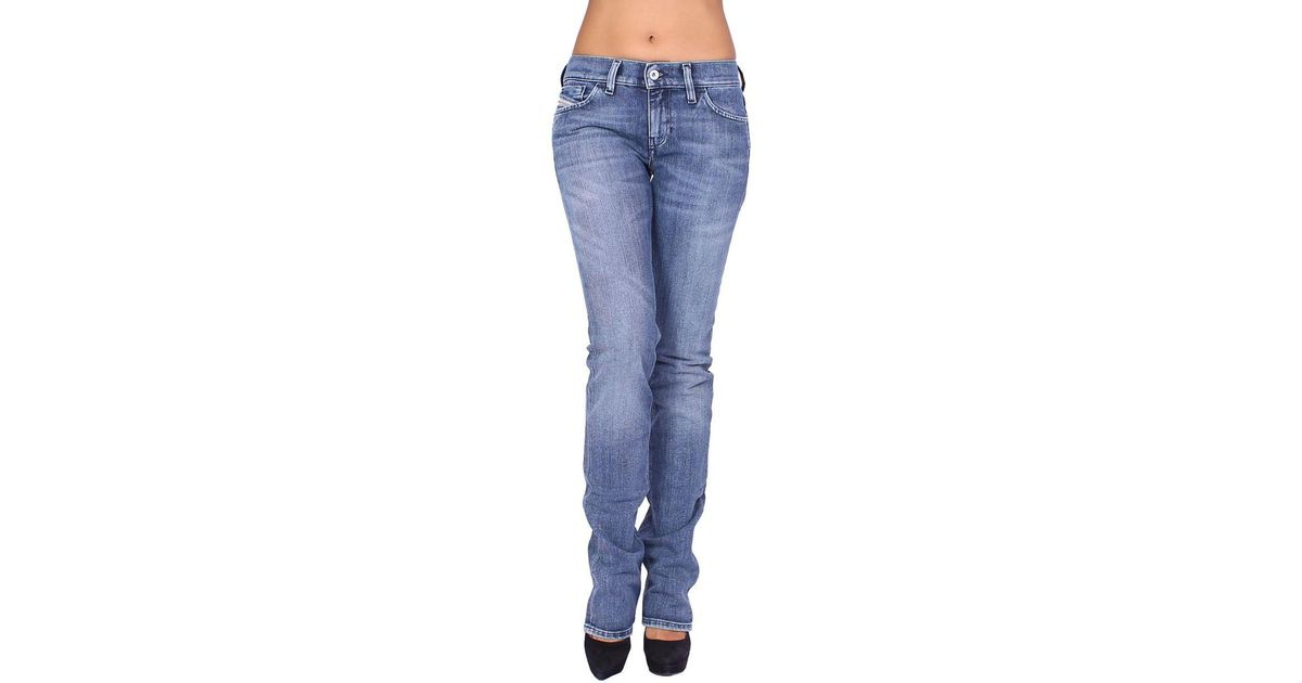 824fa6a1 DIESEL - Women's Jeans Liv 72j - Slim Straight Women's Skinny Jeans In Blue  in Blue - Lyst