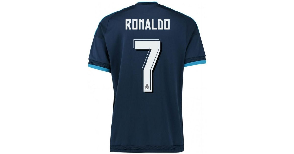 new product 45b66 c53d8 Adidas 2015-2016 Real Madrid Third Shirt (ronaldo 7) Men's T Shirt In Blue  for men