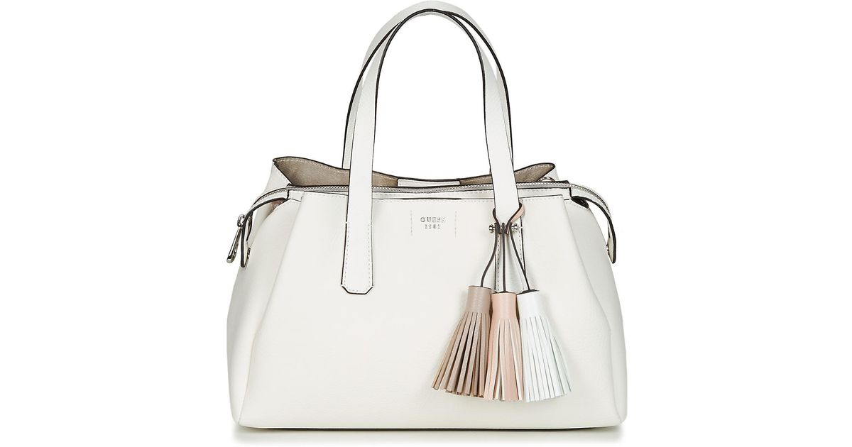 Guess Trudy Girlfriend Satchel Women s Handbags In White in White - Lyst f97d9c38b4