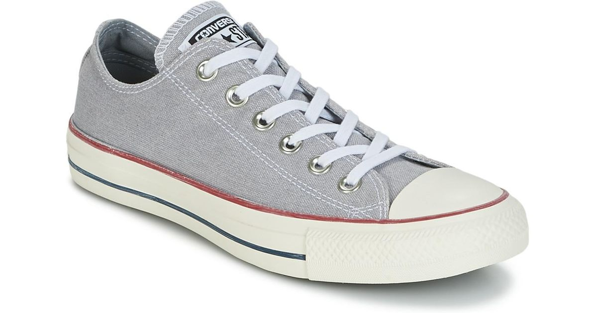 3ce9fa8a52efce Converse Chuck Taylor All Star Ox Stone Wash Women s Shoes (trainers) In  Grey in Gray - Lyst