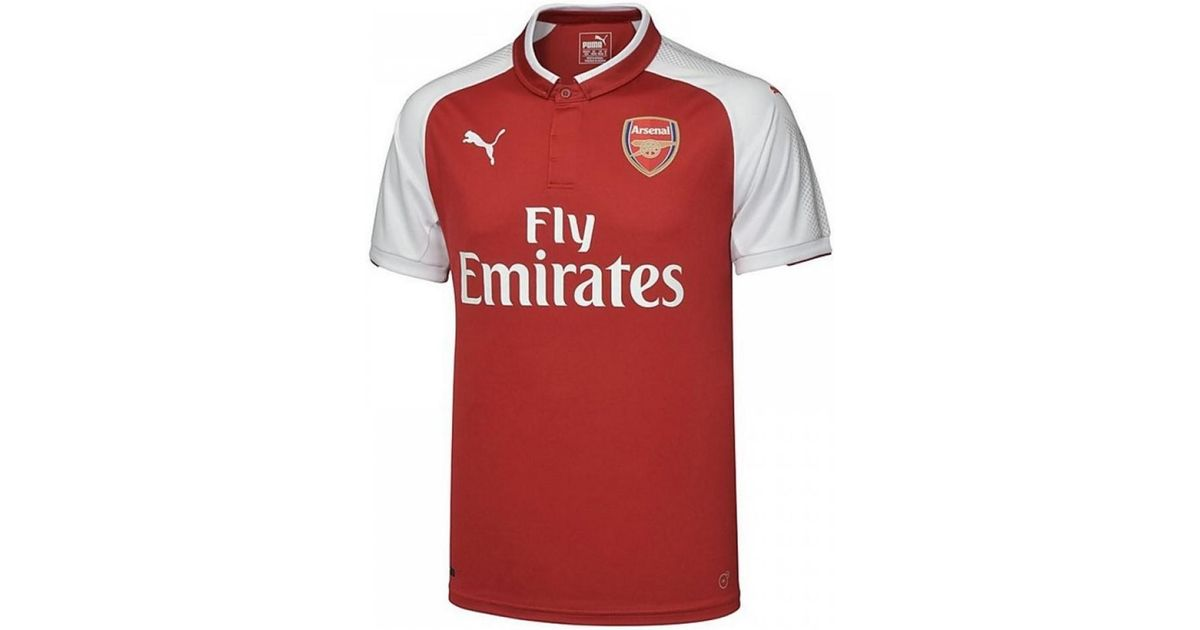the latest 4af10 d2933 PUMA 2017-18 Arsenal Home Shirt - Kids (ozil 11) Men's Polo Shirt In Red  for men