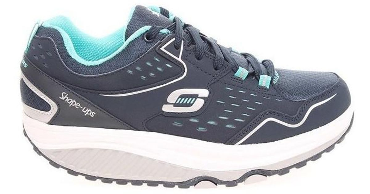 Skechers Shapeups 20 Everyday Comfort Navylight Blue 57002 Nvlb Women's Shoes (trainers) In Multicolour