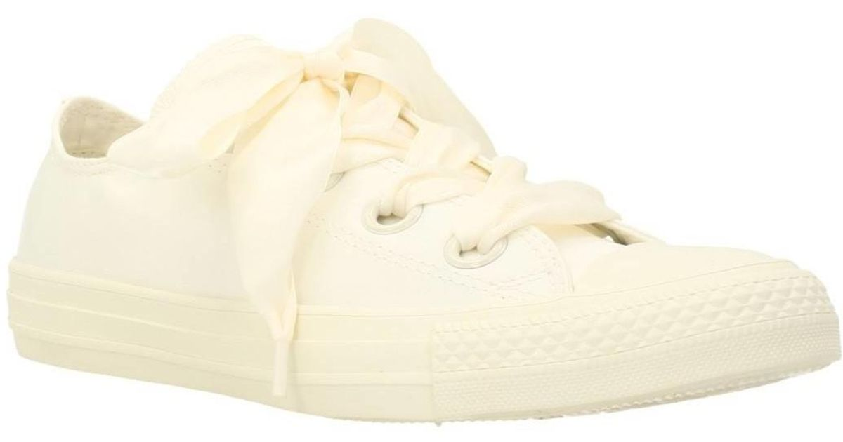 Converse Natural Ctas Big Eyelets Ox Women's Shoes (trainers) In Beige