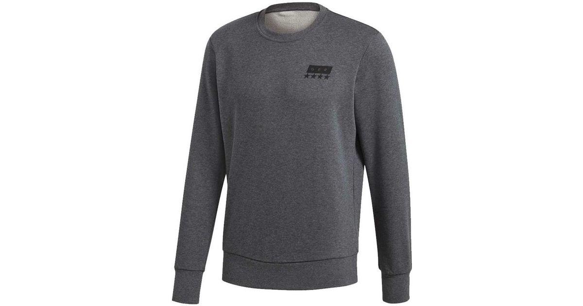 26e0b891f adidas 2018-2019 Germany Graphic Crew Sweatshirt Women's Sweatshirt In Grey  in Gray - Lyst