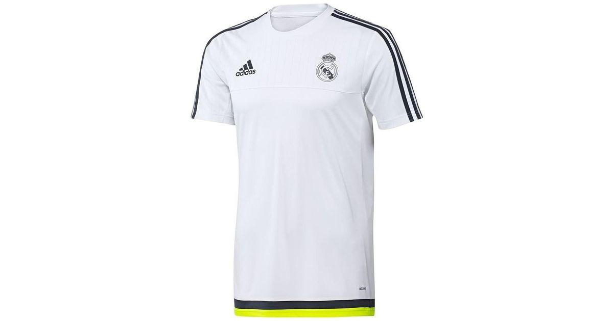 wholesale dealer 0e005 56469 Adidas 2015-2016 Real Madrid Training Shirt - Kids Men's T Shirt In White  for men