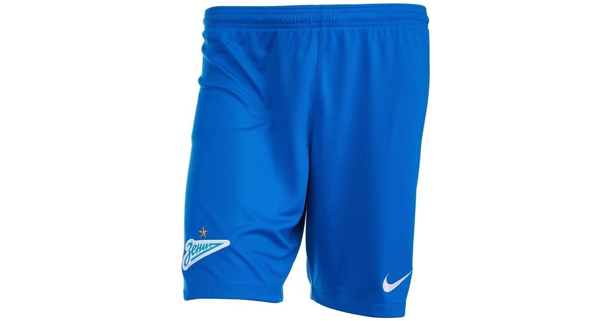 huge selection of 4bccb 956bb Nike 2018-2019 Zenit Home Shorts Men s Shorts In Blue in Blue for Men - Lyst