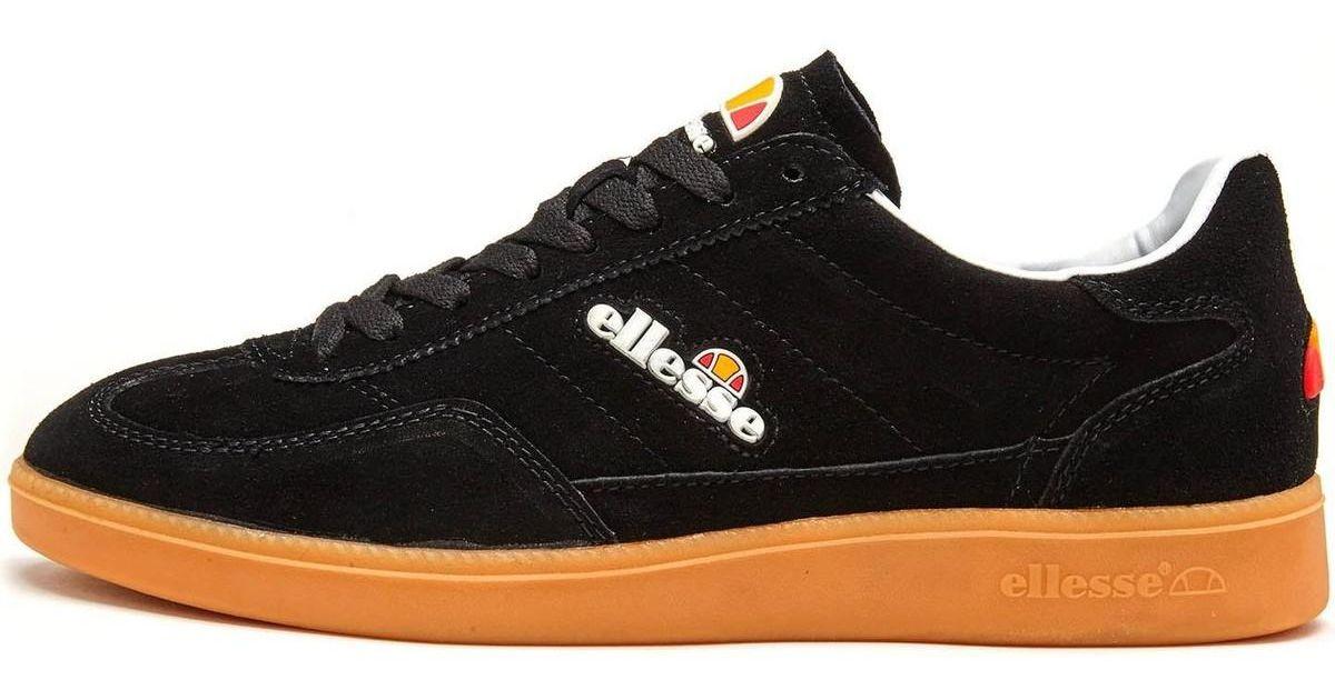 87b98bf34 Ellesse Calcio Cupsole Suede Trainers In Black Gum Shfu0295 Men's Shoes ( trainers) In Black in Black for Men - Lyst