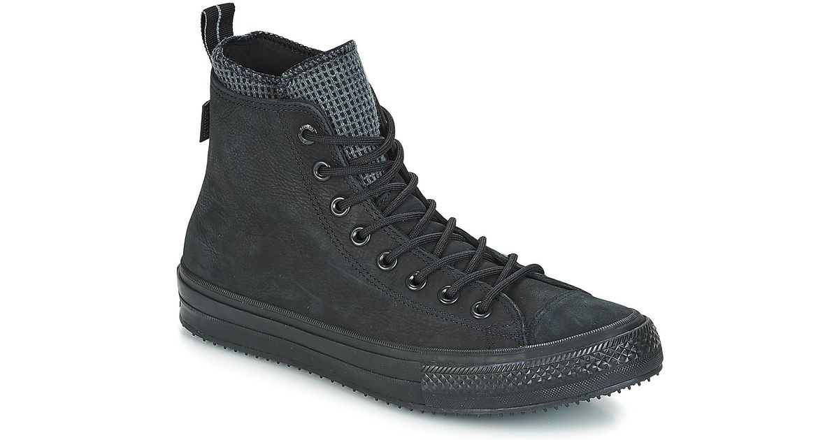 110d23143ac0 Converse Chuck Taylor All Star Wp Boot Leather Hi Shoes (high-top Trainers)  in Black for Men - Save 4% - Lyst