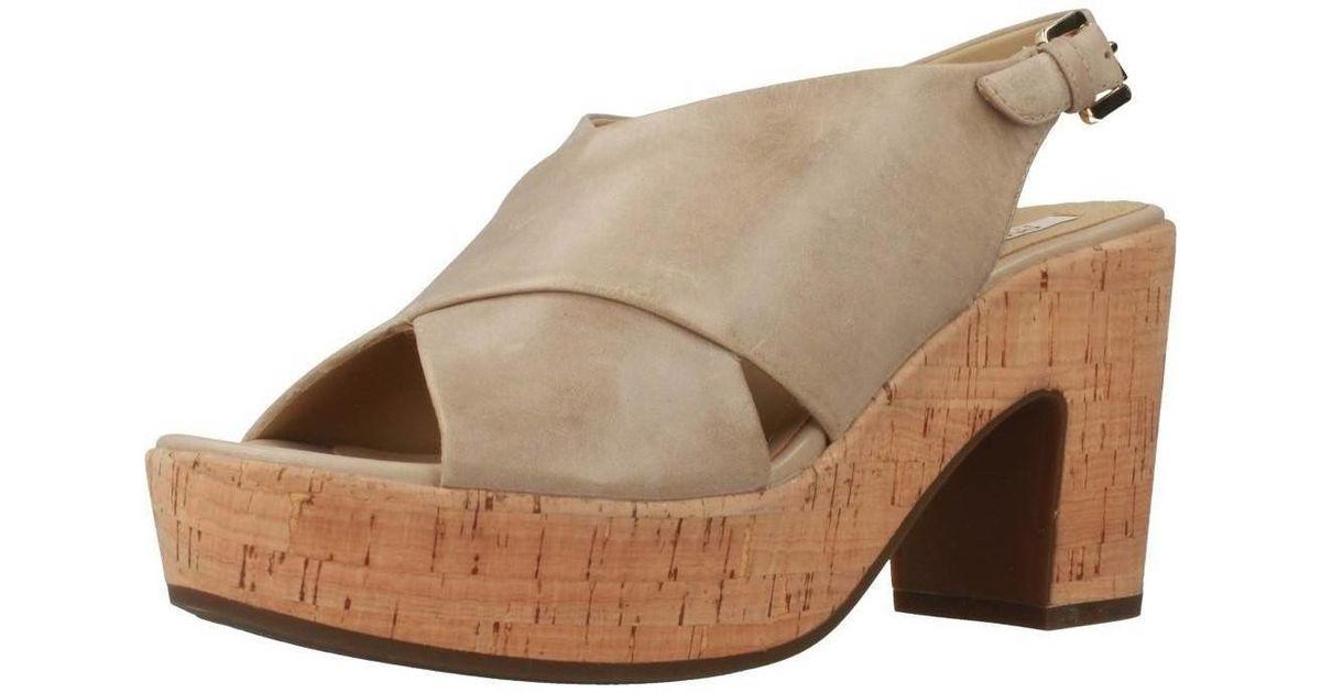 neueste guter Verkauf detaillierte Bilder Geox Natural D Zaferly Women's Clogs (shoes) In Beige