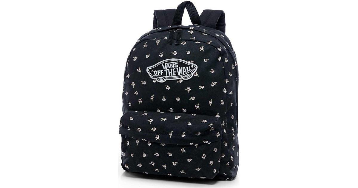 Vans Mochila Realm Fall Floral Women's Backpack In Black