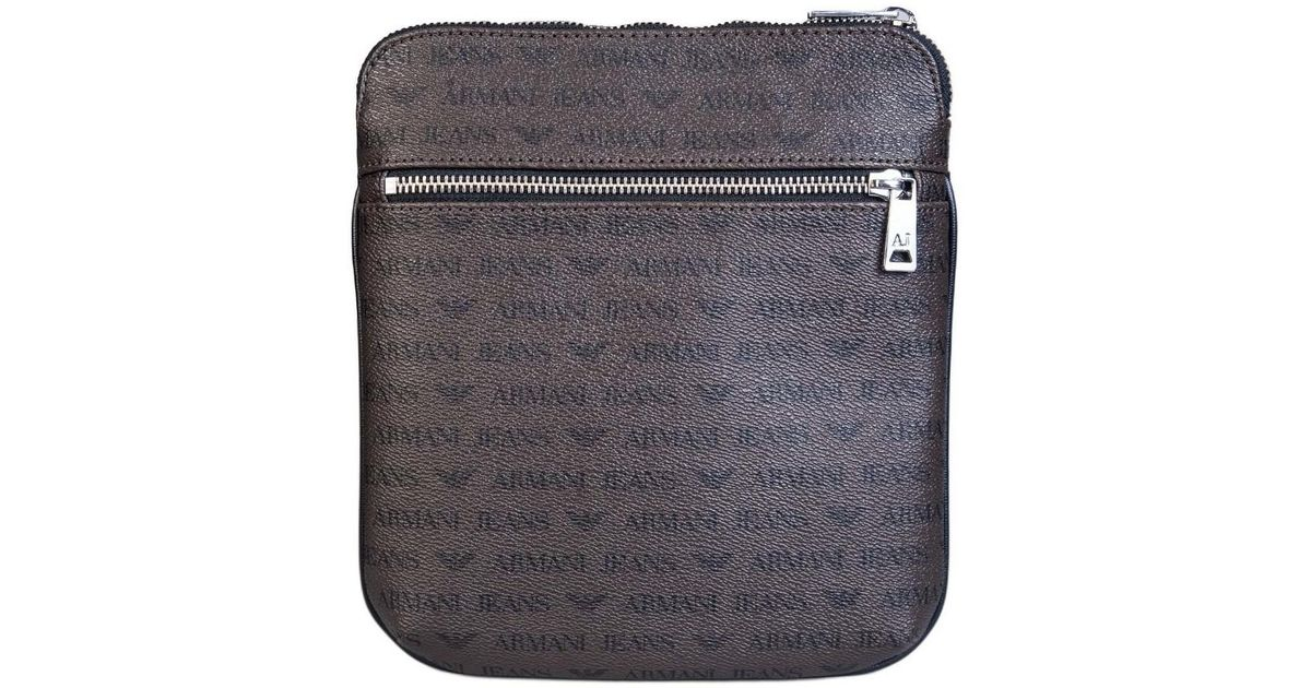 8847ec69f257 Armani Jeans Bag Messenger 932534 Ccc996 Men s Messenger Bag In Brown in  Brown for Men - Lyst