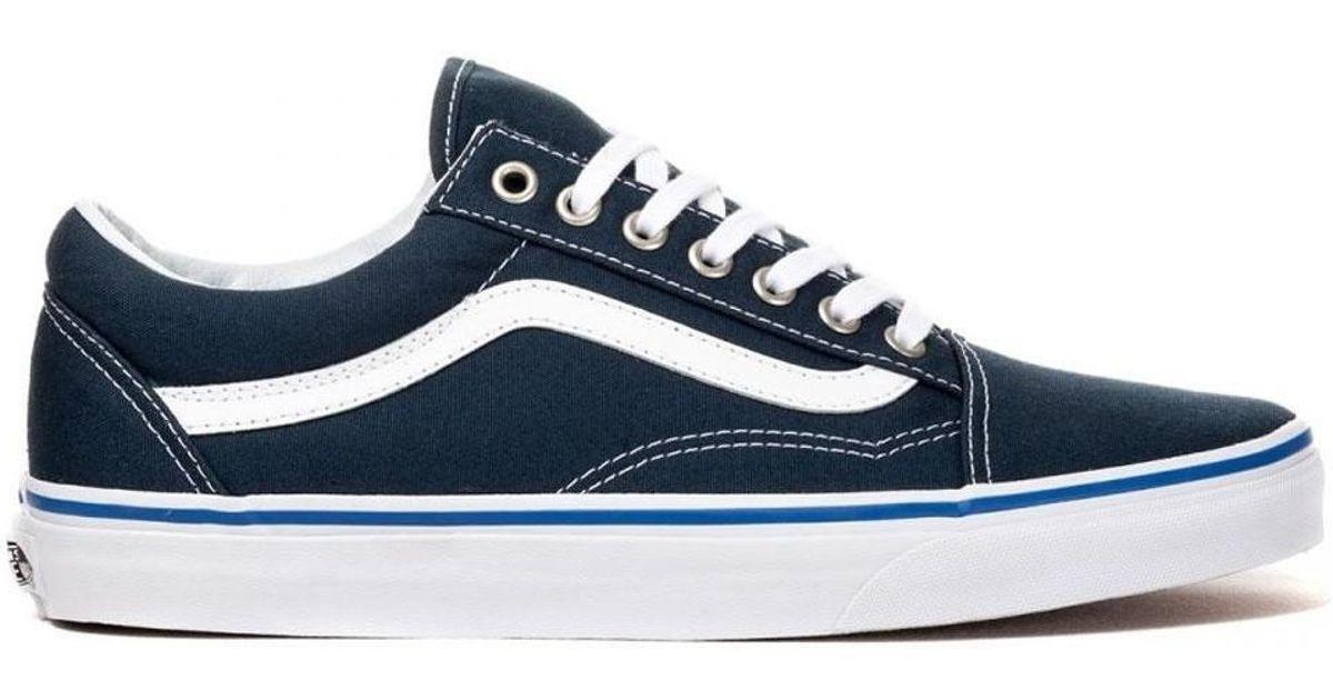 e42e424fe1 Vans Mens Old Skool Midnight Navy true White Vn00040jjpv Men s Shoes  (trainers) In Multicolour in Blue for Men - Lyst