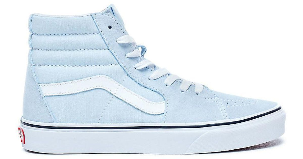 d5260e0ca3ce Vans Sk8-hi Baby Blue Women s Shoes (high-top Trainers) In Blue in Blue -  Lyst