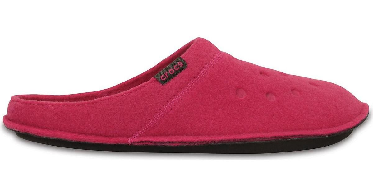 d9501ef93f7e Crocs™ Classic Slipper Roomy Fit Clogs Shoes In Candy Pink Oatmeal 2  Women s Clogs (shoes) In Pink in Pink - Lyst