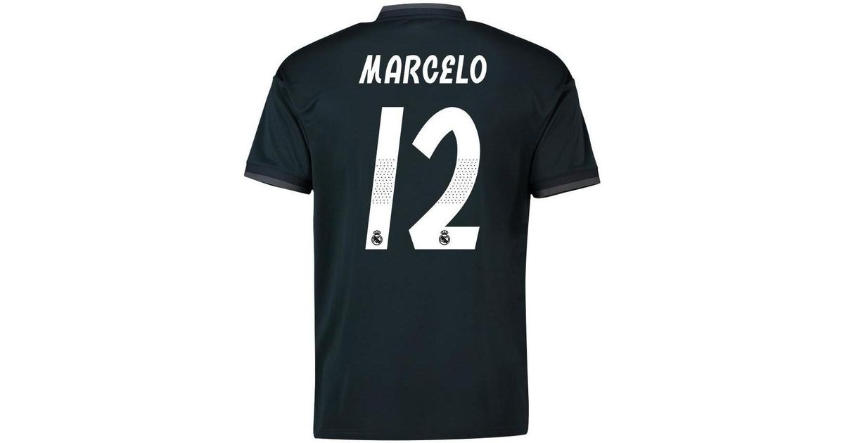 best deals on f4e16 668fa Adidas - 2018-19 Real Madrid Away Shirt (marcelo 12) Men's T Shirt In Black  for Men - Lyst