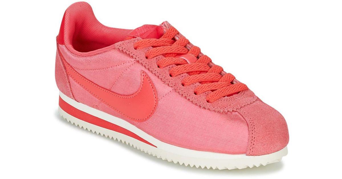 5dd1c9086b7c5b Nike Classic Cortez Nylon W Shoes (trainers) in Pink - Lyst