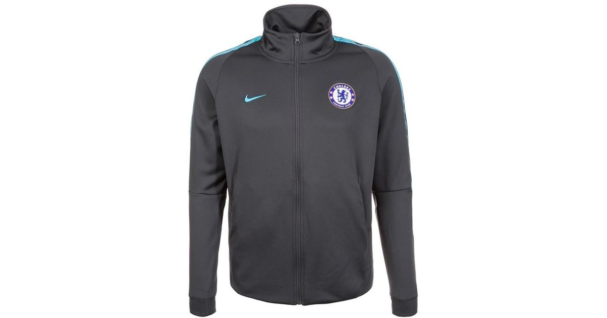 Nike 2017 2018 Chelsea Authentic Track Jacket (anthracite) Women's Tracksuit Jacket In Black