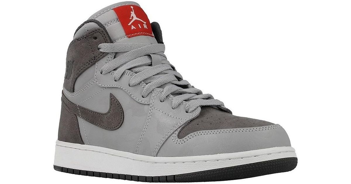 outlet store eac20 e39d1 Nike Gray Air Jordan 1 Retro Hi Pr Women's Shoes (high-top Trainers) In Grey