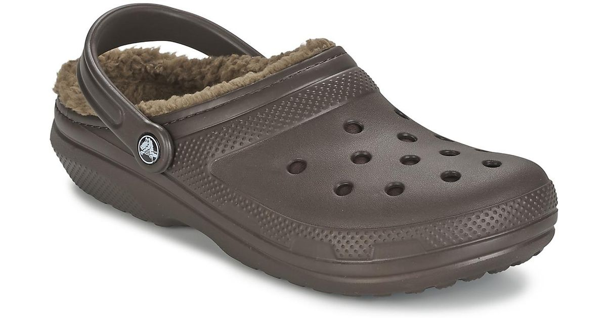 6fd7be68bab Crocs™ Classic Lined Clog Clogs (shoes) in Brown - Lyst