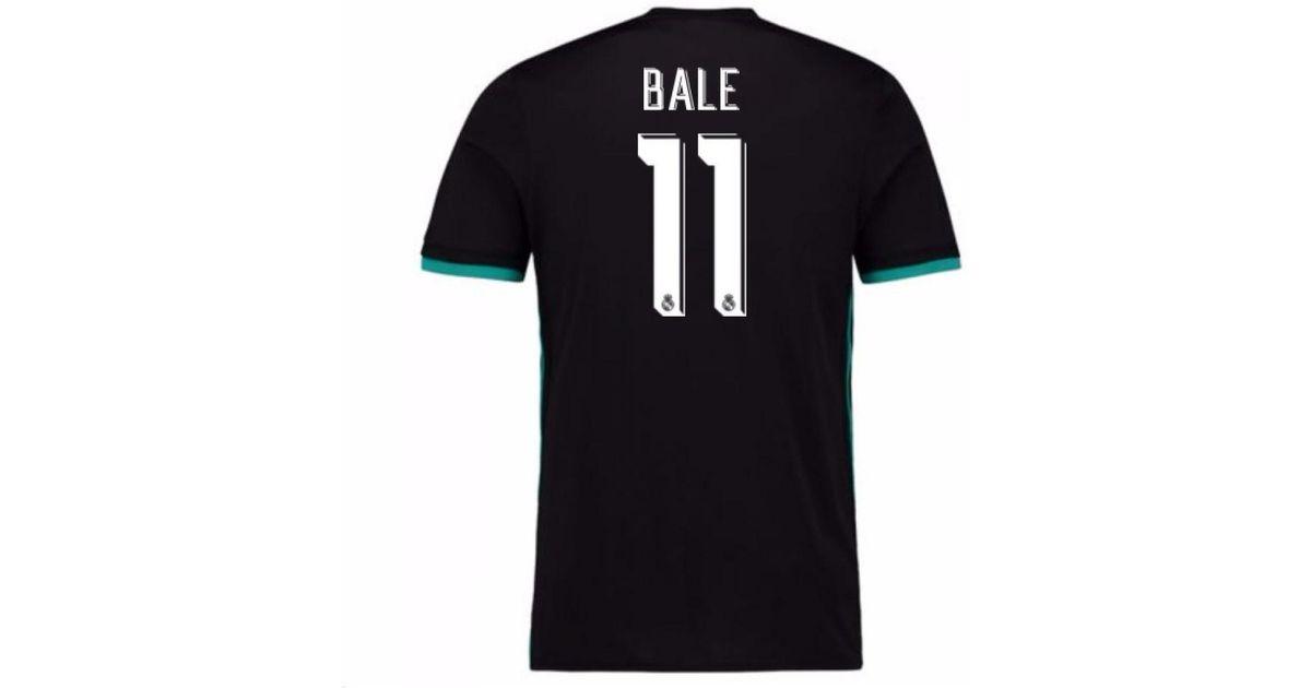 best service 3ebcf b121e Adidas - 2017-18 Real Madrid Away Shirt - Kids (bale 11) Men's T Shirt In  Black for Men - Lyst