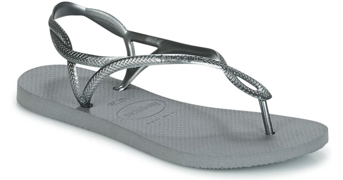 8551668e3 Havaianas Luna Women s Flip Flops   Sandals (shoes) In Silver in Metallic -  Lyst