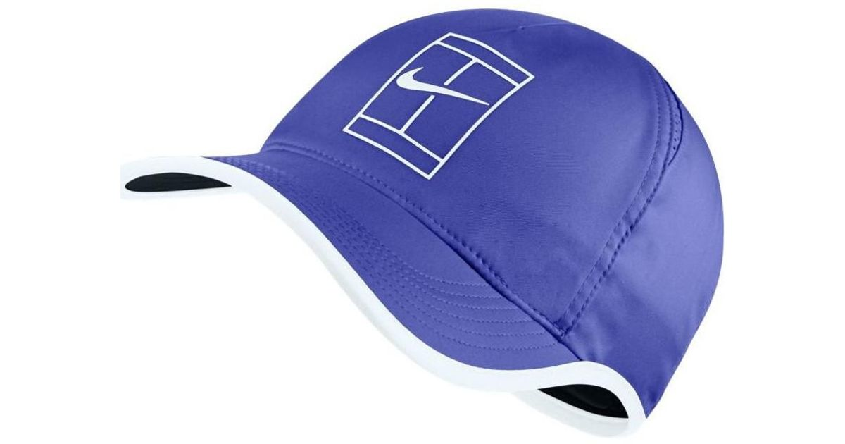 caf6ca3aed0 Nike Court Aerobill Featherlight Tennis Cap Women s Cap In Blue in Blue -  Lyst
