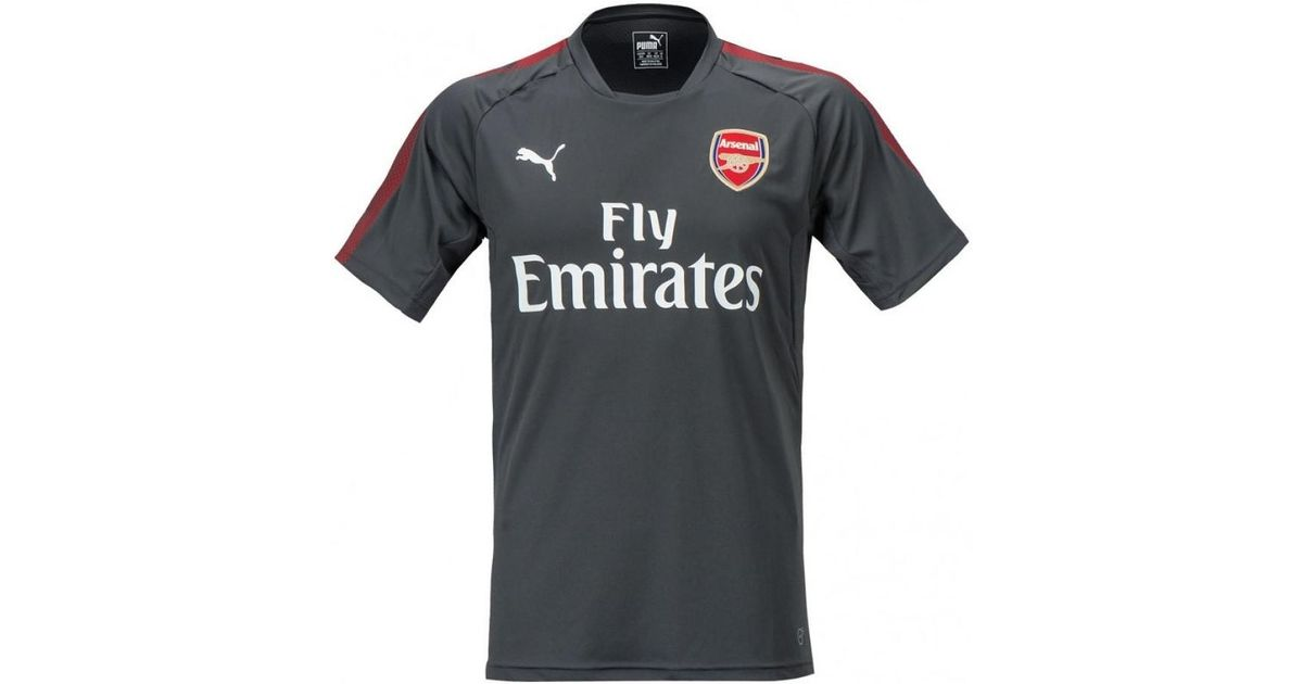 more photos b0615 866c9 PUMA Gray 2017-2018 Arsenal Training Jersey (dark Shadow) Men's T Shirt In  Grey for men