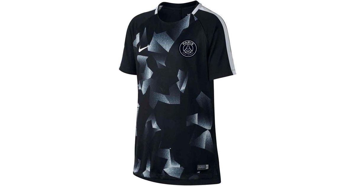 sports shoes 02b40 80cab Nike 2017-2018 Psg Pre-match Training Shirt - Kids Men's T Shirt In Black  for men