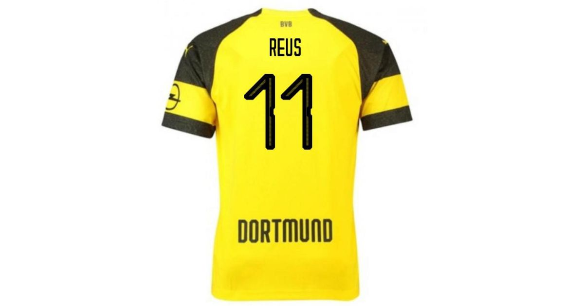 wholesale dealer 76efc 0e98e PUMA 2018-2019 Borussia Dortmund Home Football Shirt (reus 11) Women's T  Shirt In Yellow