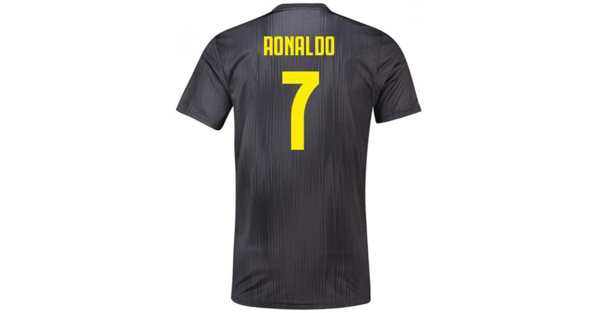6720950351e adidas 2018-19 Juventus Third Football Shirt (ronaldo 7) - Kids Men's T  Shirt In Black in Black for Men - Lyst