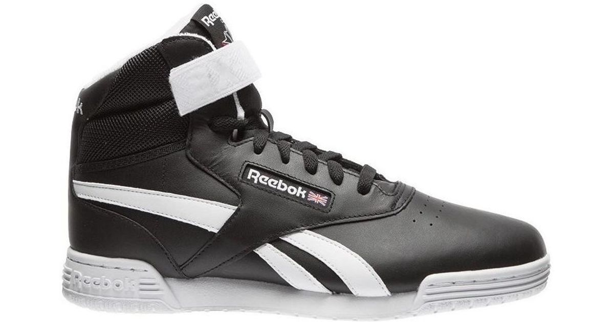 a234bf6486e8 Reebok Exofit Clean Hi S Men s Shoes (high-top Trainers) In Black in Black  for Men - Lyst