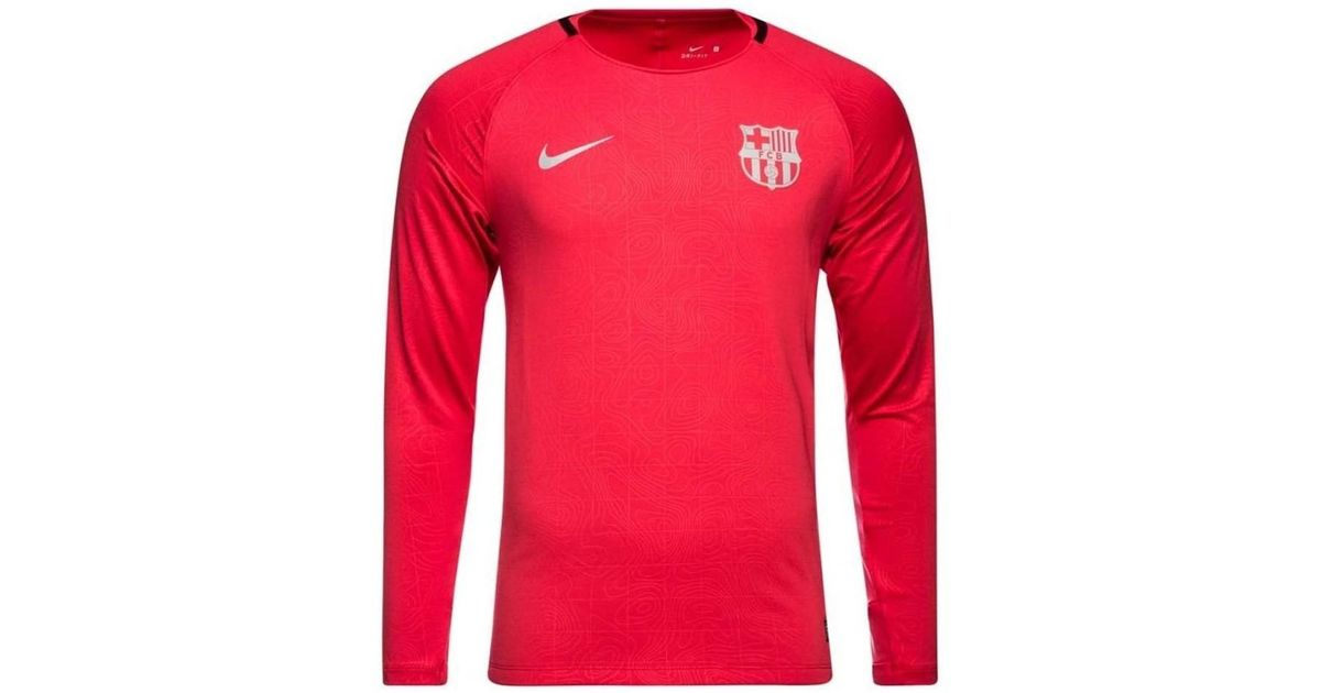 newest collection 726a8 69e62 Nike - 2018-2019 Barcelona Long Sleeve Training Shirt (tropical) - Kids  Women's In Pink for Men - Lyst