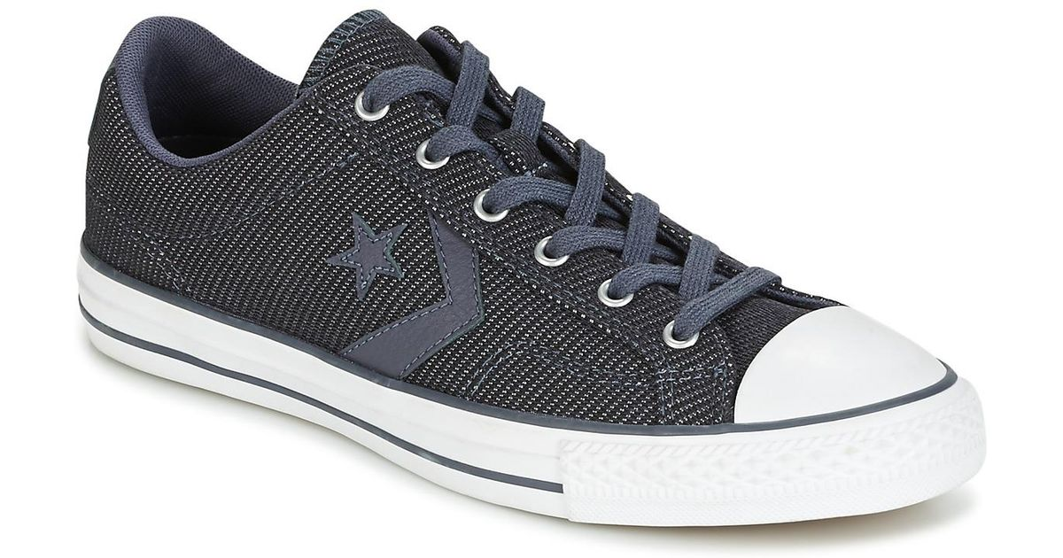 f451590227f2fa Converse Star Player 3 Color Herringbone Ox Sharkskin white black Men s  Shoes (trainers) In Black in Black for Men - Lyst