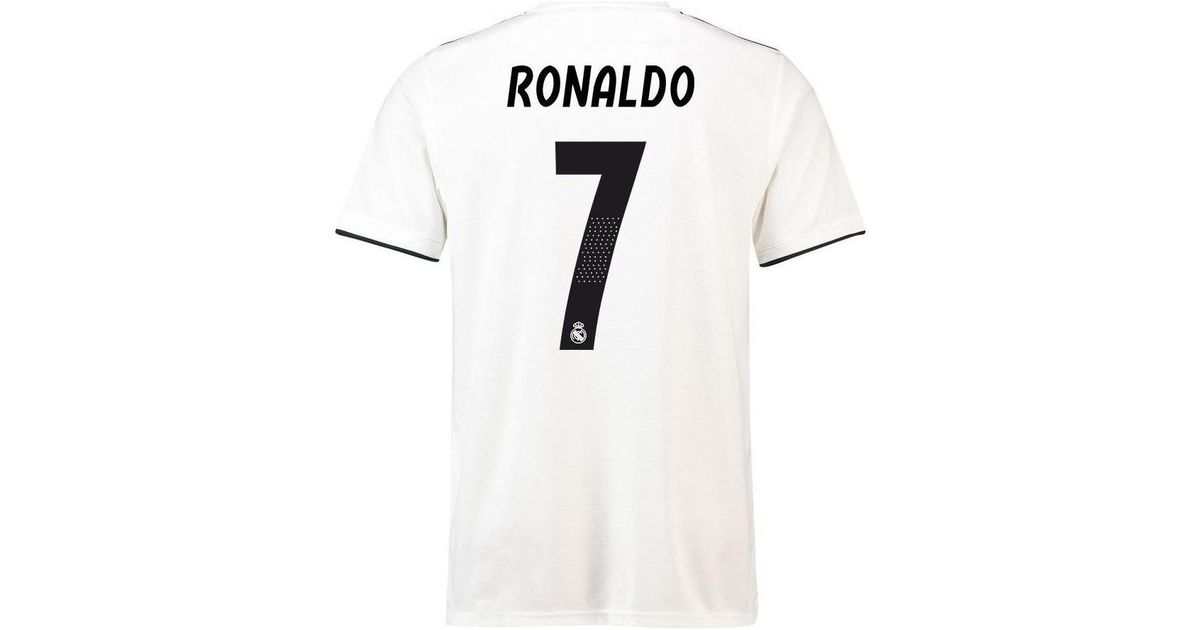 save off 8bc62 630bf Adidas 2018-19 Real Madrid Home Football Shirt (ronaldo 7) Men's T Shirt In  White for men