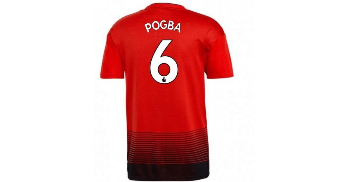 huge discount f2c45 09f08 Adidas 2018-2019 Man Utd Home Football Shirt (pogba 6) Men's T Shirt In Red  for men