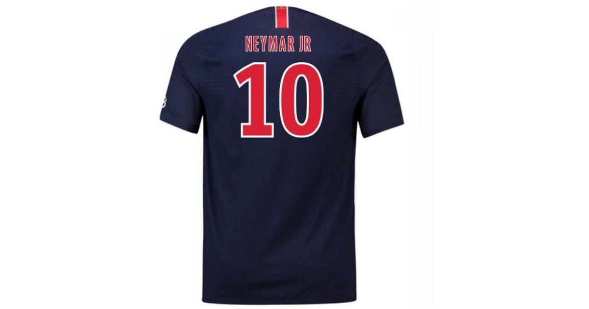 new product ccb8b b4986 Nike - 2018-2019 Psg Home Football Shirt (neymar Jr 10) Women's T Shirt In  Blue - Lyst