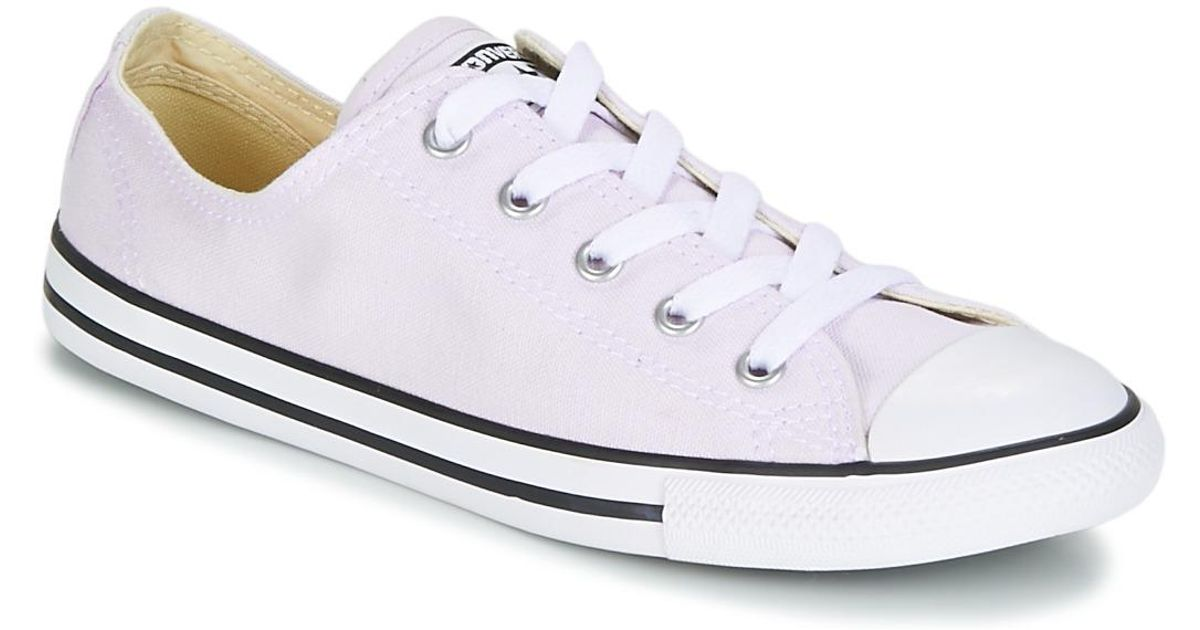 Converse Chuck Taylor All Star Dainty Ox Canvas Color Women s Shoes ( trainers) In White in White - Lyst 66e754943