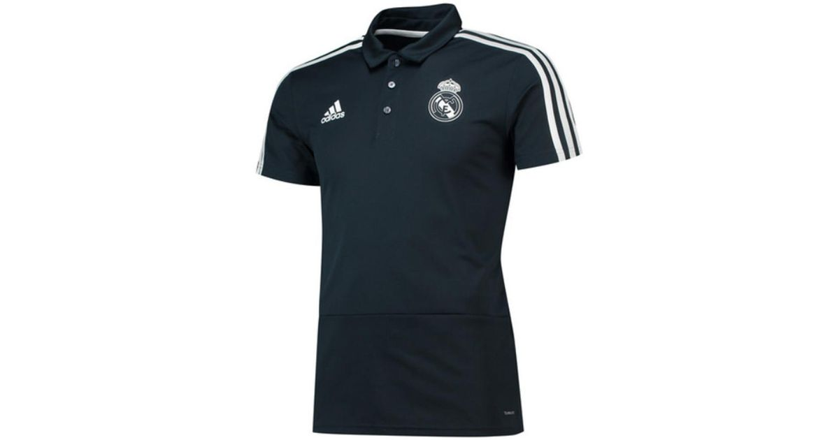 904101ef3 adidas 2018-2019 Real Madrid Polo Shirt (dark) Men s Polo Shirt In Grey in  Gray for Men - Lyst