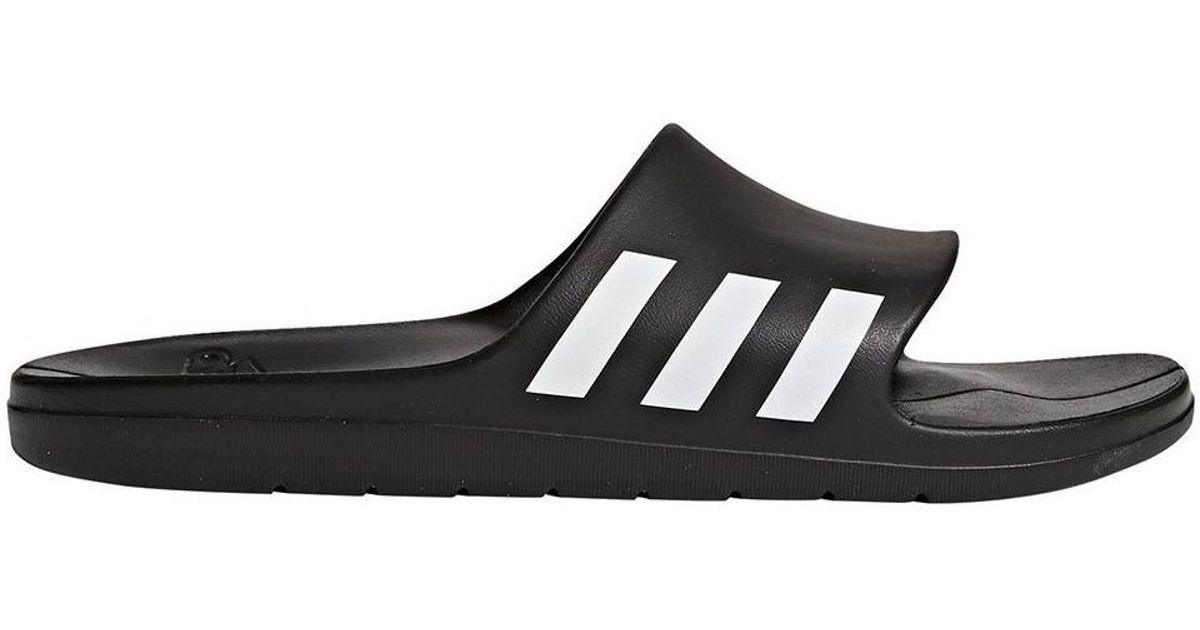 on sale 718e5 2c373 Adidas Aqualette Slides Black Mens Flip Flops  Sandals (shoes) In Black  in Black for Men - Lyst