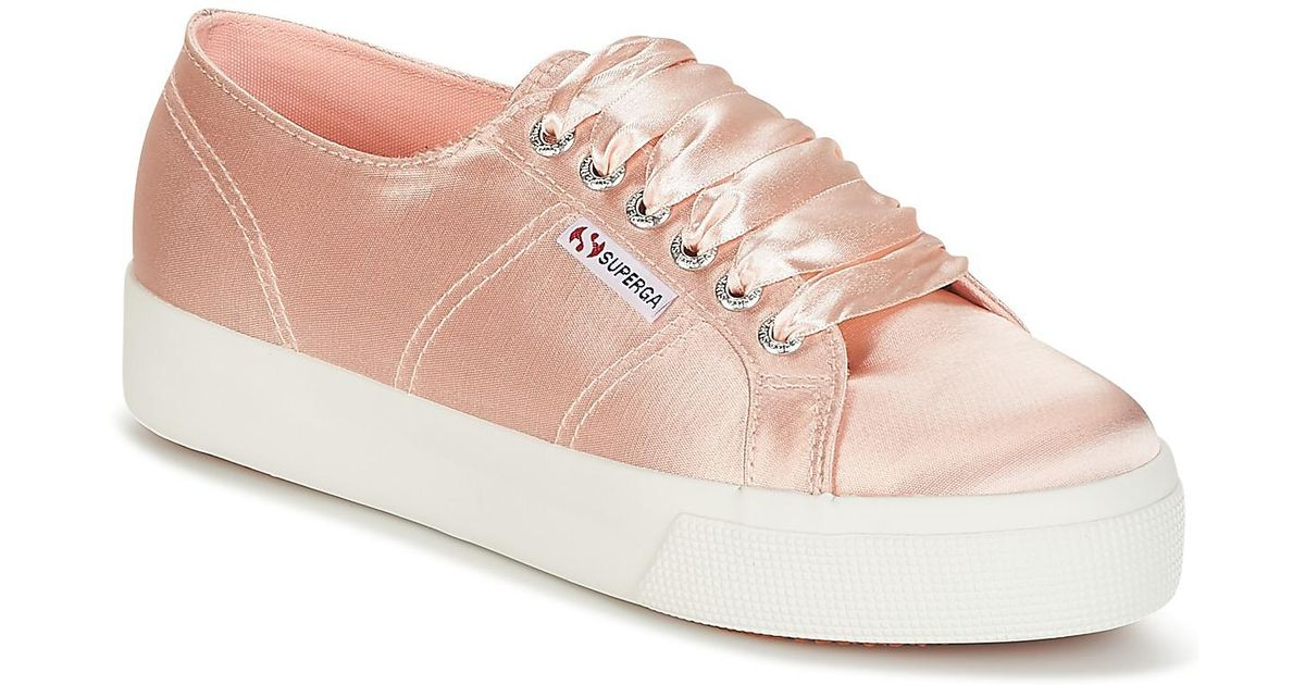 c77198eb281ac Superga 2730 Satin W Shoes (trainers) in Pink - Save 17% - Lyst