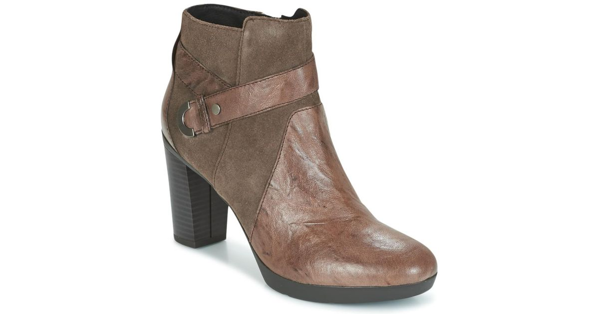 Geox Brown D Inspiration Plateau Low Ankle Boots Lyst